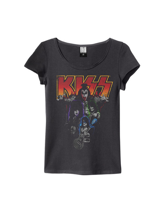 kiss band shot women kiss t shirts amplified. Black Bedroom Furniture Sets. Home Design Ideas