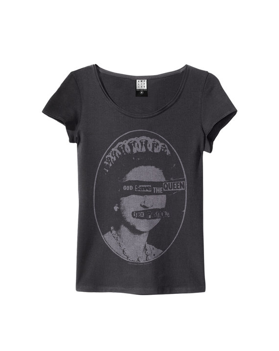 SEX PISTOLS QUEEN WOMENS SLIM FIT