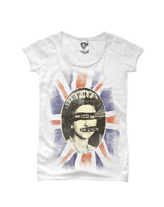 View the SEX PISTOLS QUEENS WOMENS SLIM FIT online at Amplified