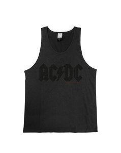 View the ACDC BLACK DIAMANTE LOGO VEST online at Amplified