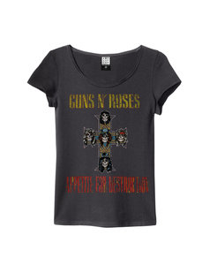 View the GUNS N ROSES APPETITE WOMENS SLIM FIT online at Amplified