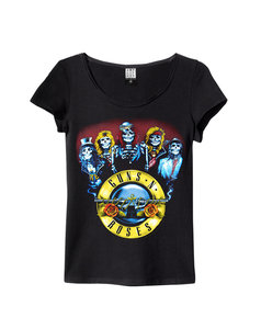 GUNS N ROSES SKELETON T-SHIRT WOMEN