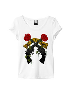 View the GUNS N ROSES SHOOTING ROSES WOMEN online at Amplified