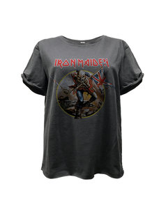 View the IRON MAIDEN TROOPER BOYFRIEND T-SHIRT online at Amplified