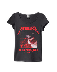 View the METALLICA KILL EM ALL WOMENS SLIM FIT online at Amplified