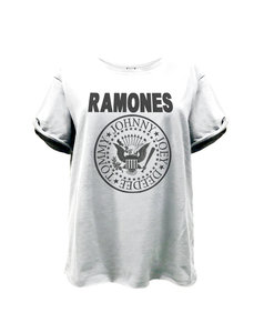 View the RAMONES LOGO BOYFRIEND T-SHIRT online at Amplified