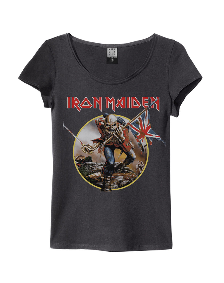 iron maiden trooper womens slim fit iron maiden all t. Black Bedroom Furniture Sets. Home Design Ideas