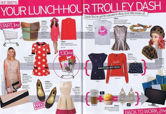 LADIES PINK LIPS WHITE T-SHIRT in Heat Mag Full